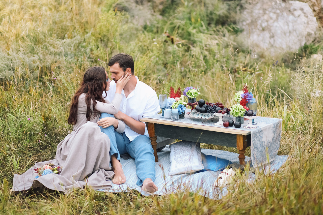 pre-wedding photography in the style of boho style